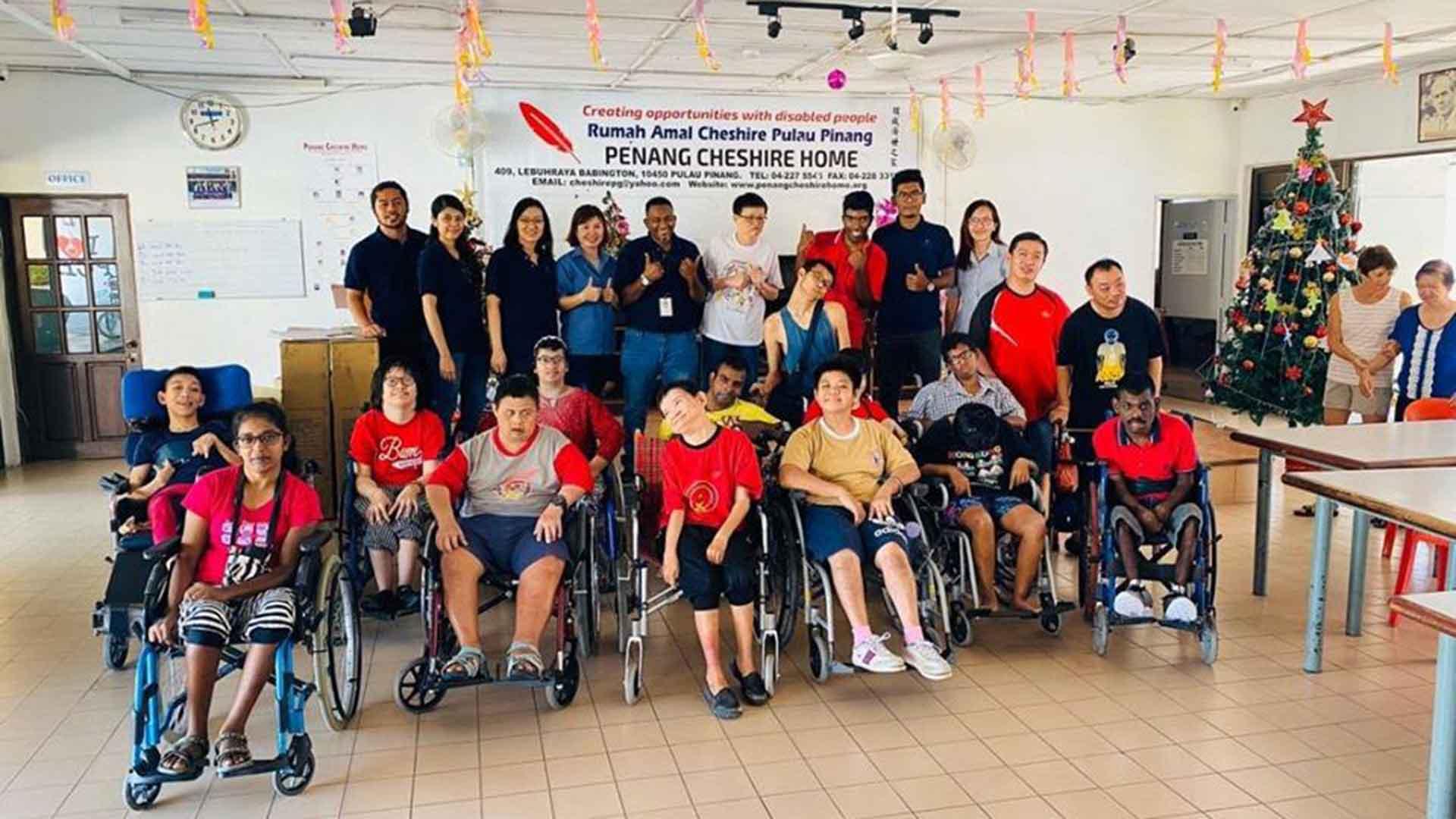 Dufu donates to Penang Cheshire Home