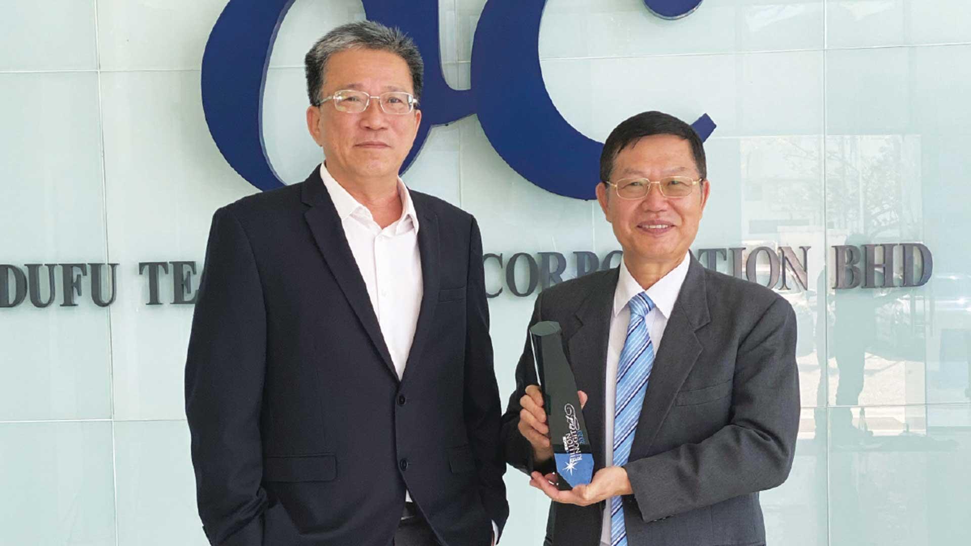 Dufu wins The Edge Billion Ringgit Club (BRC) Award